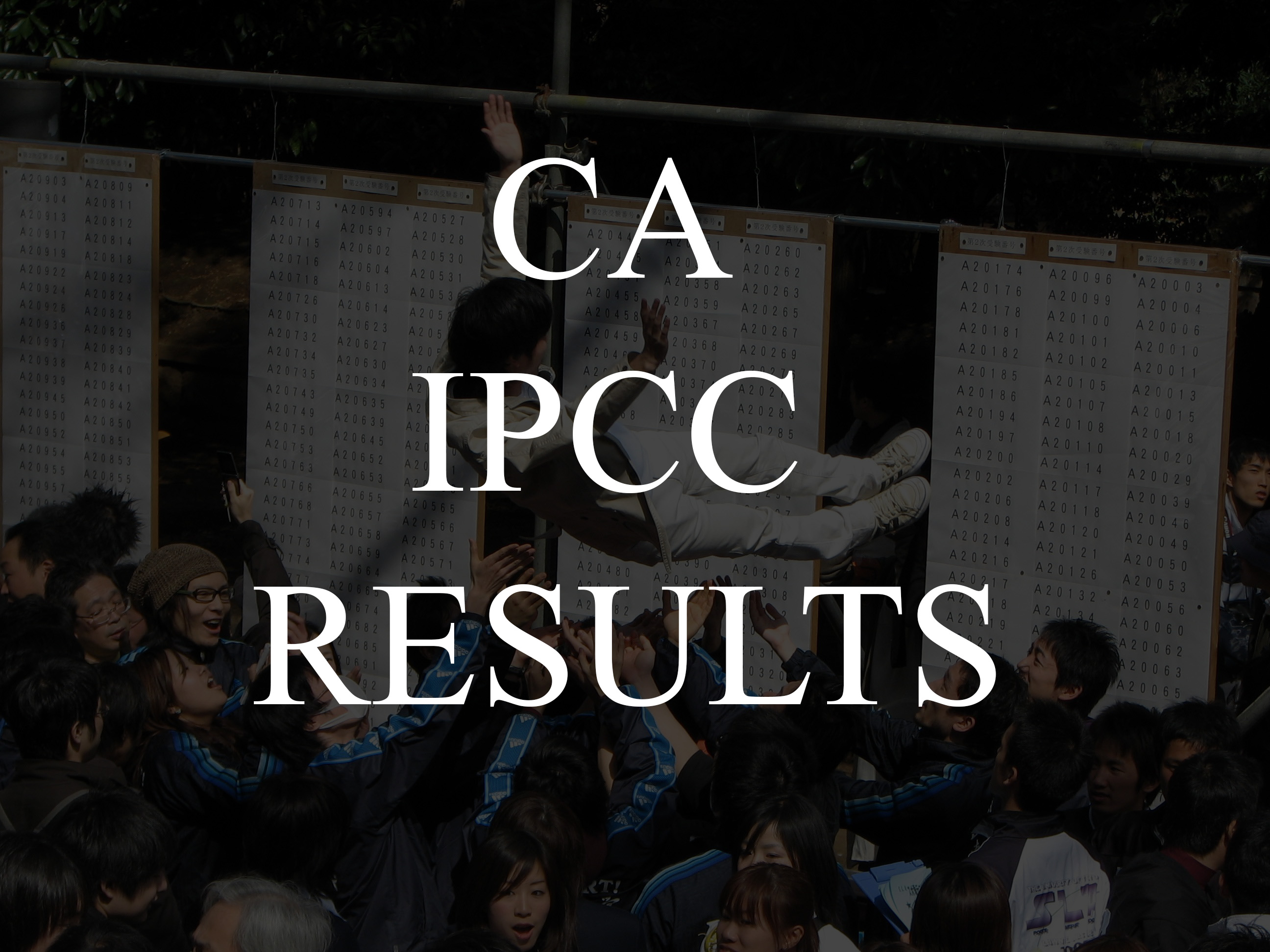CA IPCC Result May 2017 @ caresults.icai.org 01 August 2017 Official Announcement