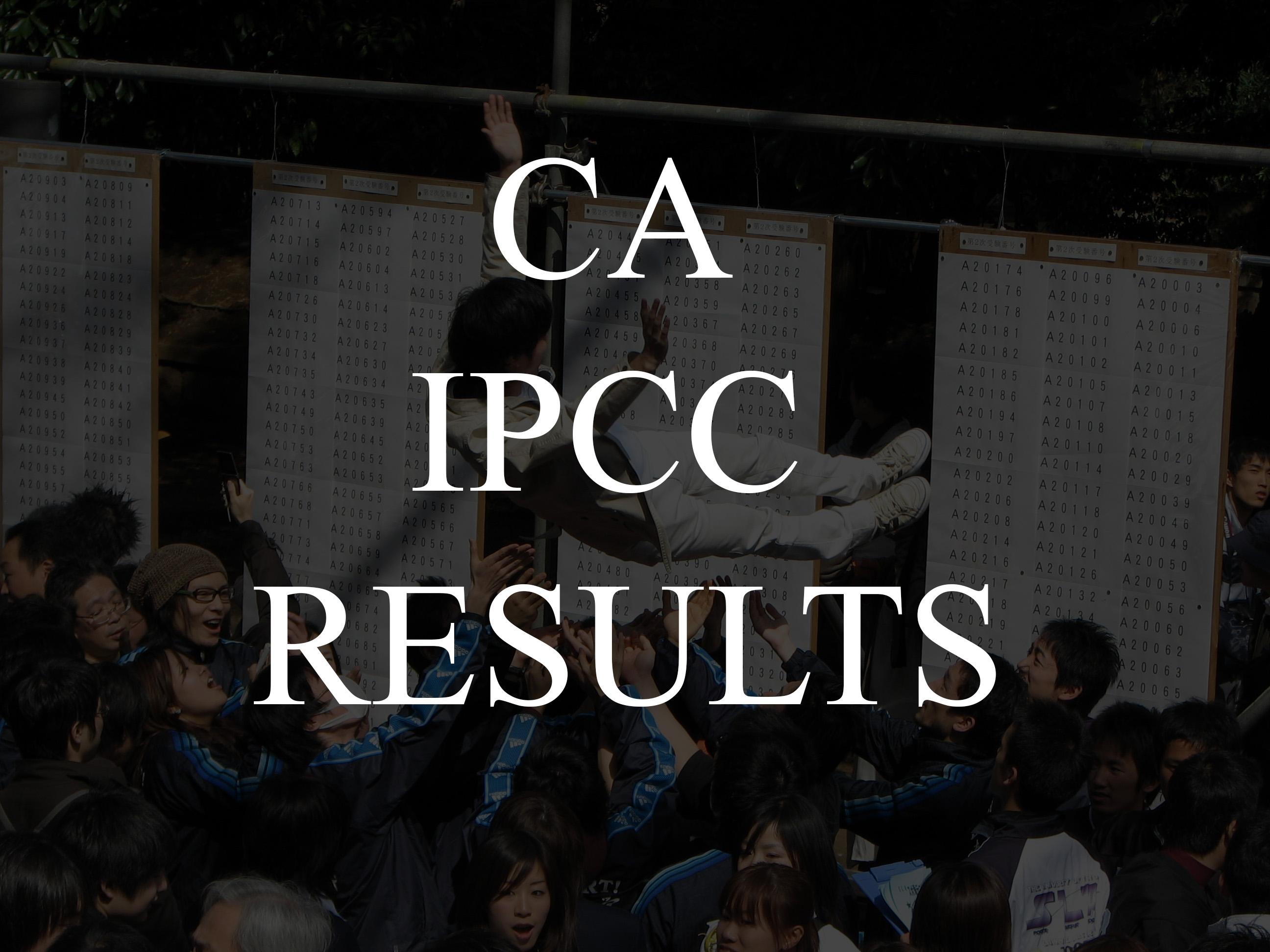 CA IPCC Result Date