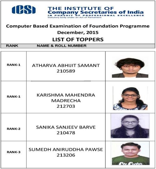 CS Foundation Toppers