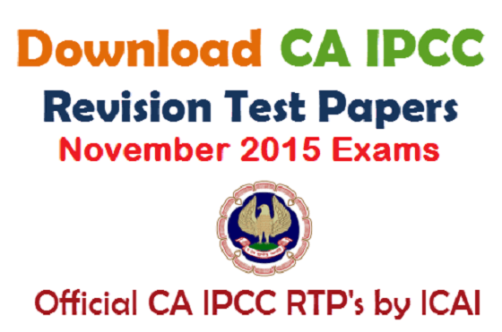 CA IPCC RTP - Revision Test Papers November 2015