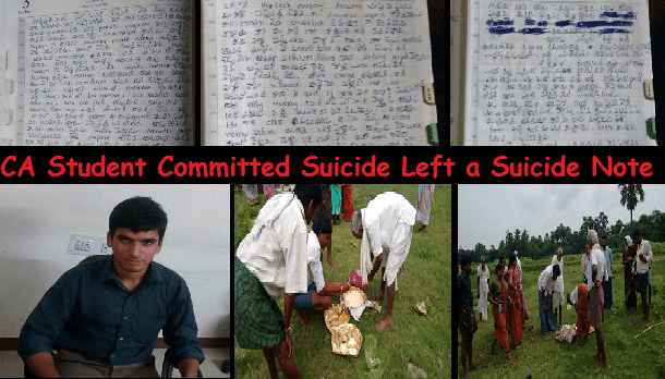 Ca Student Committed Suicide and left a note