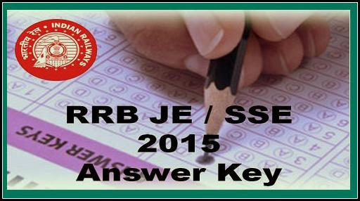 RRB JE Junior Engineer Exam Answer Key 2015