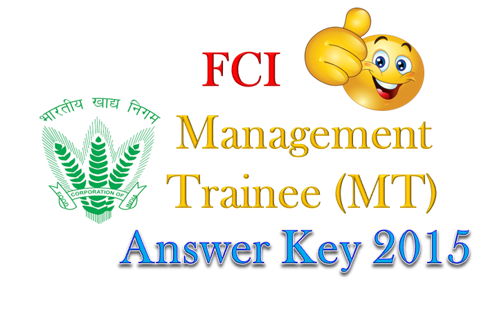FCI MT Answer Key 2015 Download Question Paper Solution All Regions