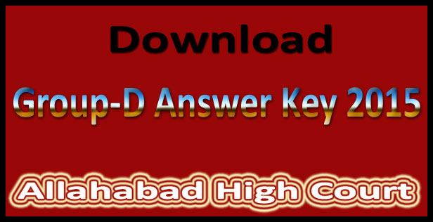 Allahabad High Court Group D Exam Hall Ticket 2015
