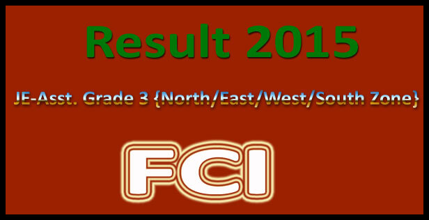 FCI Final Result 2015 Declared Category 3 Cut Off