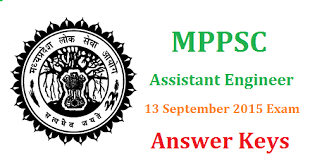 MPPSC Assistant Engineer Answer key
