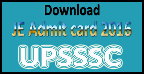 UPSSSC Junior Engineer Admit Card 2015