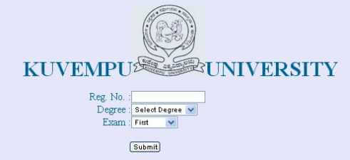 Kuvempu University Exams Result 2016