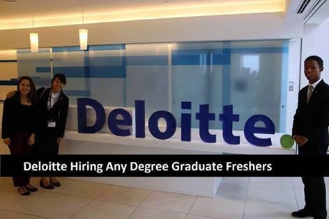 Deloitte Hiring Associates Analyst Freshers 2016