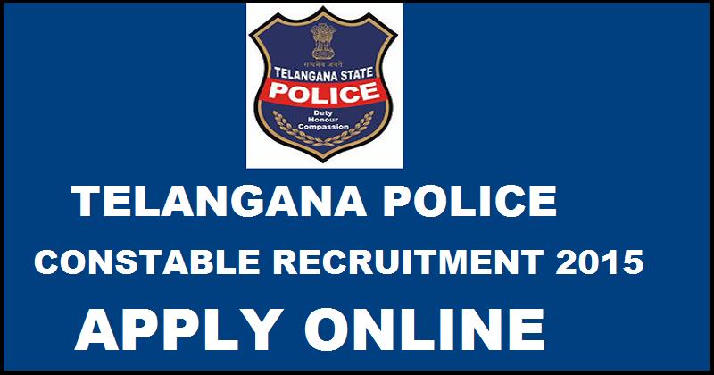 TSLPRB Constable Recruitment 2016