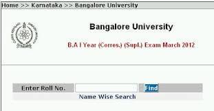 Bangalore university Result 2016