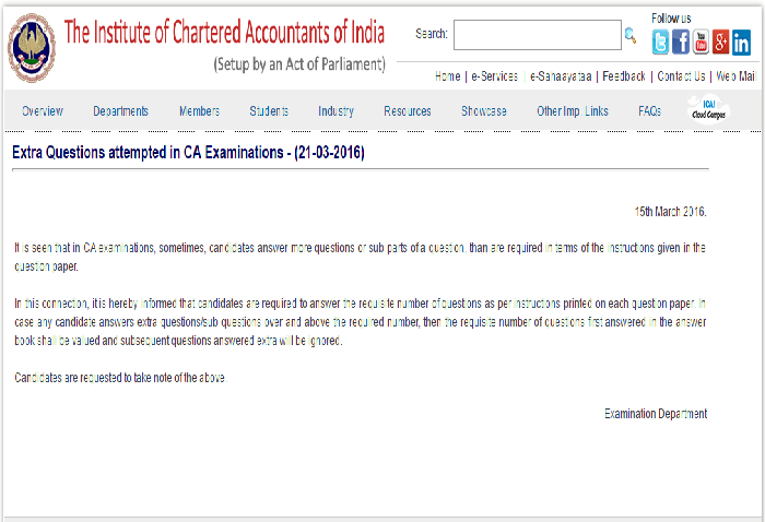 ICAI Notification