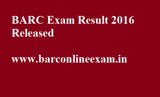 BARC OCES DGFS Result 2016