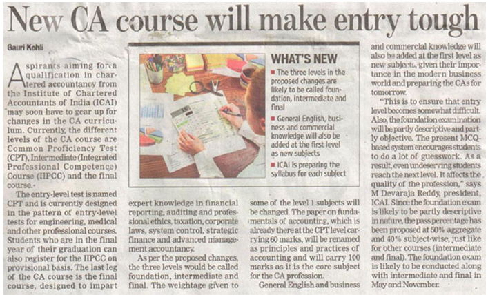 New-CA-Course-will-Make-Entry-Tough-For-Student