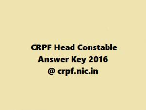 CRPF Head Constable Result 2016 @ crpf.nic.in
