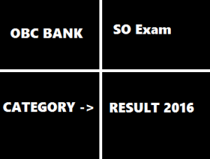 OBC SO Results 2016 @ www.obcindia.co.in