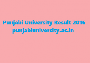 Punjabi University Result 2016 @ punjabiuniversity.ac.in