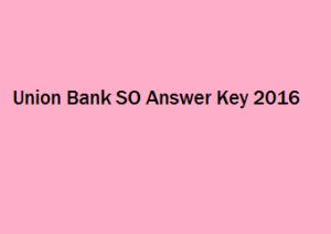 Union Bank SO Answer Key 2017