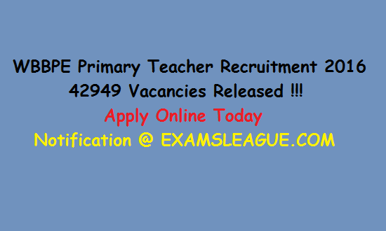 WBBPE Primary Teacher Recruitment 2016