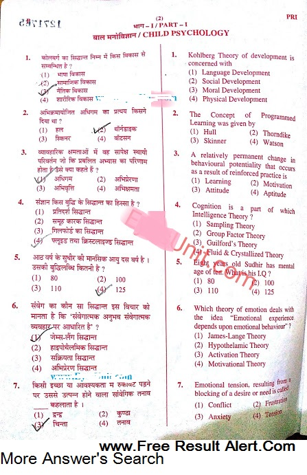 UPTET Result Dec 2016