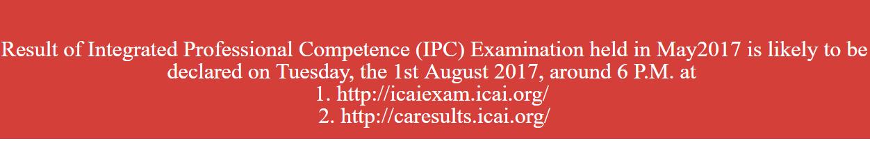 CA IPCC Result May 2017