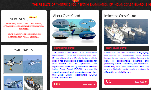 Indian Coast Guard Yantrik Result 01/2017 Batch Merit List