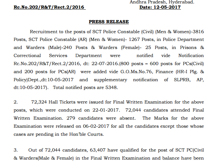 TN Police Constable Answer Key 2017 Tamilnadu Warder/Fireman Cut off Marks @ tnusrb.tn.gov.in