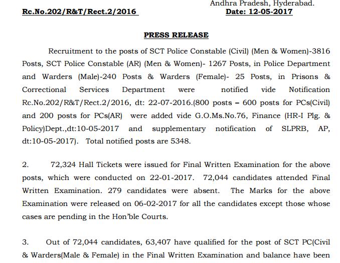 TN Police Constable Answer Key 2017 Tamilnadu Warder/Fireman Cut off Marks @ tnusrb.tn.gov.in