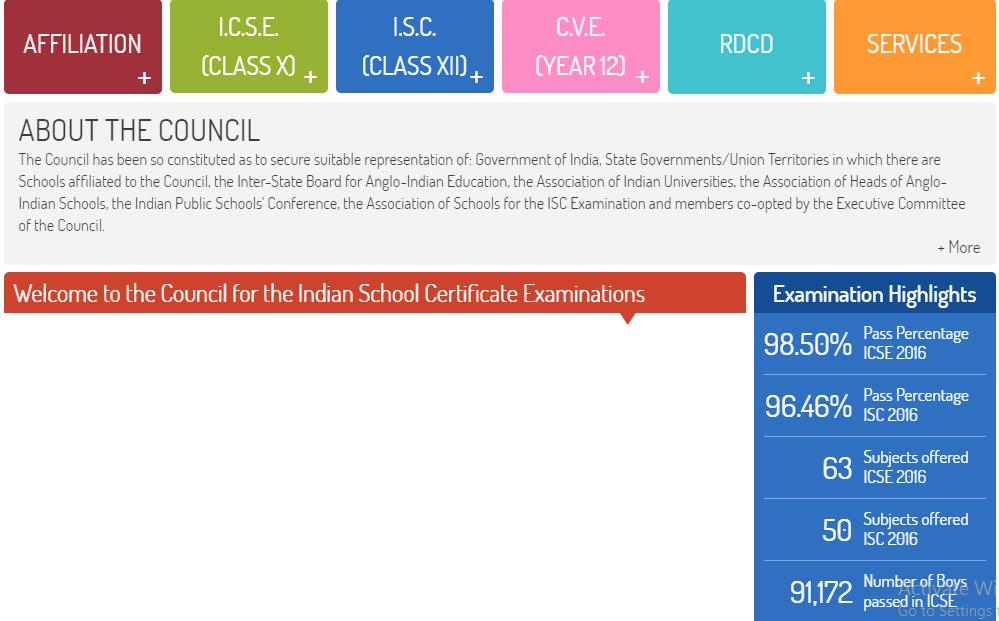 ICSE Class 10th Board Result 2017