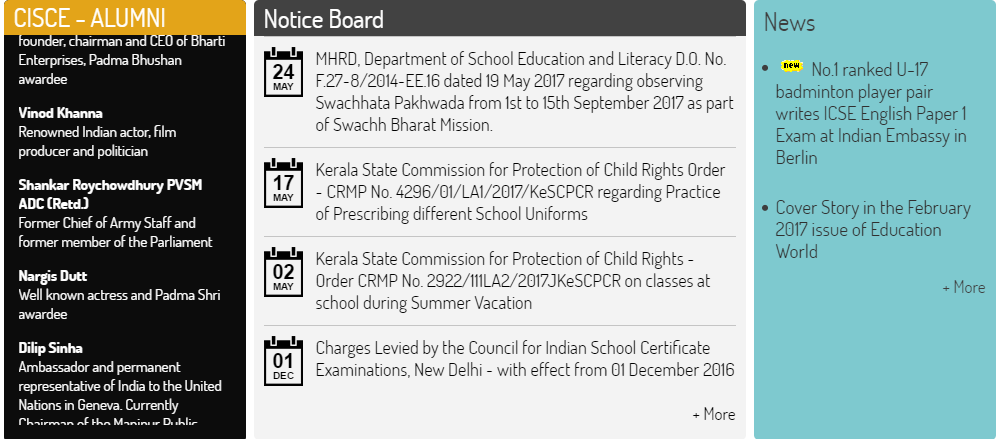 ICSE Class 10th School Wise Result 2017