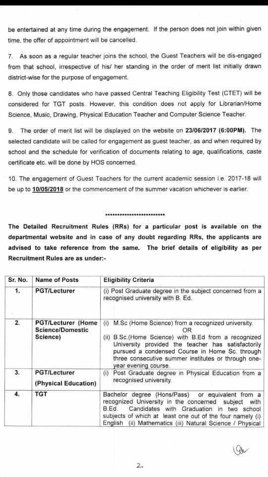 delhi tgt recruitment 2017
