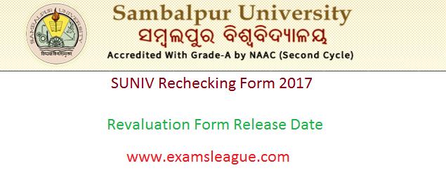 Sambalpur University Revaluation Form