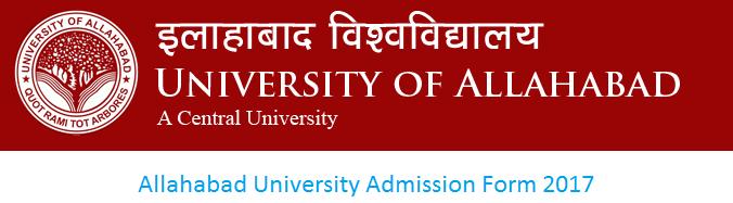 Allahabad University Admission Form 2017