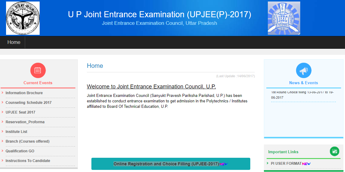 UP Polytechnic Counselling 2017