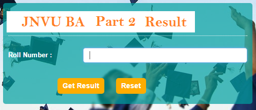 JNVU BA 2nd Year Result 2018