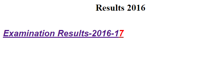 Shekhawati University BA 3rd Year Result 2017