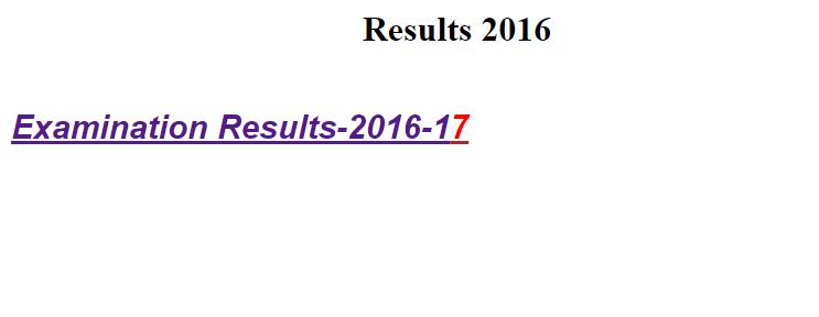 Shekhawati University BA 3rd Year Result 2017