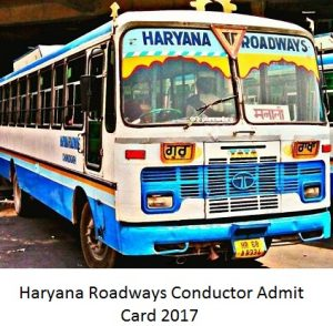Haryana Roadways Conductor Admit Card