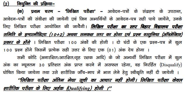 Bihar Police Constable Syllabus Pdf