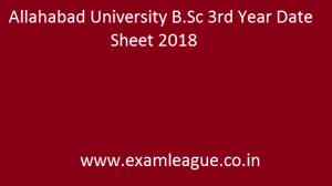 Allahabad University B.Sc 3rd Year Date Sheet