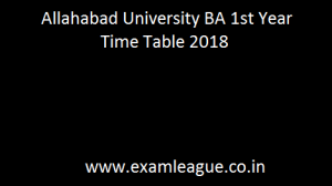 Allahabad University BA 1st Year Time Table