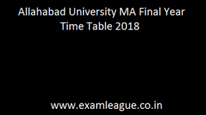 Allahabad University MA Final Year Time Table
