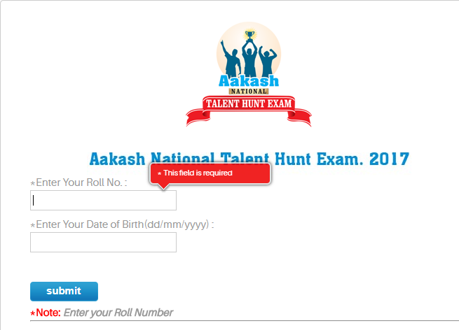 ANTHE Admit Card 2017
