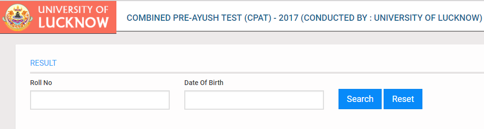 UP CPAT Result 2017