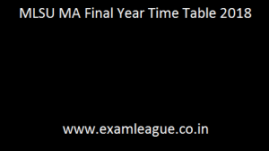 MLSU MA Final Year Time Table