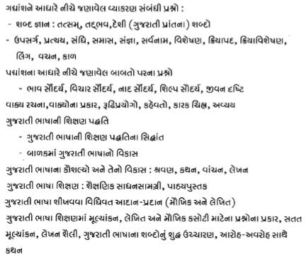 REET Gujarati Level 1 & 2 Syllabus 2017