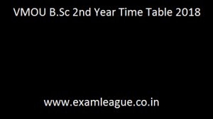 VMOU B.Sc 2nd Year Time Table