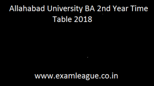 Allahabad University BA 2nd Year Time Table