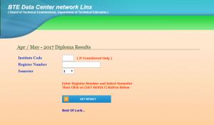 btelinx diploma 1st/3rd/5th Sem Result