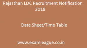 Rajasthan LDC Recruitment Notification